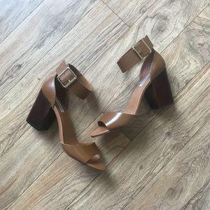 Steve Madden Cognac Heel Sandals